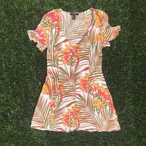Button Front Mini Dress Sz S